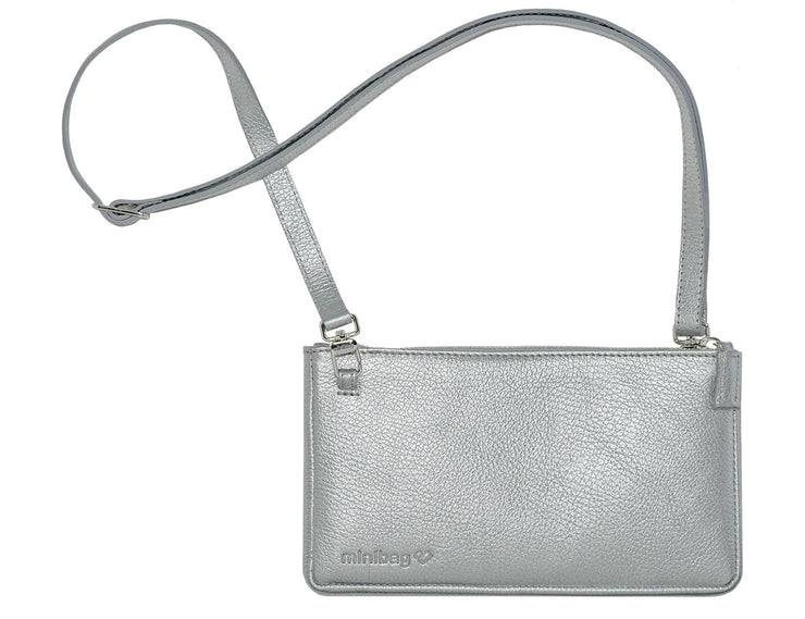 minibag metallic silver + Wallet - minibag.com