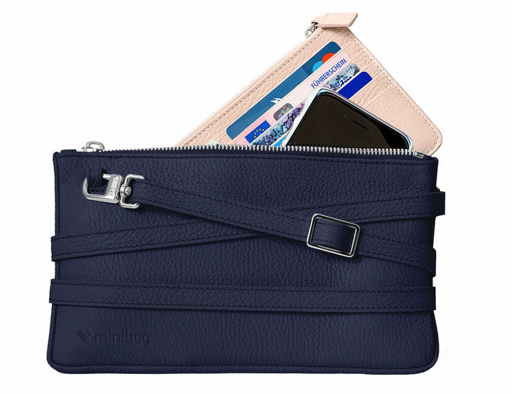 minibag navy + Wallet