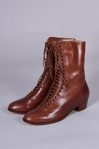 [PRE-ORDER] Everyday working boots, 1915-1920 - Cognac brown - Ruth