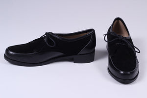 Early 1950s inspired everyday Oxford shoe - black - Barbara