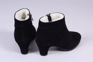 50s style booties with zipper - black - Mary
