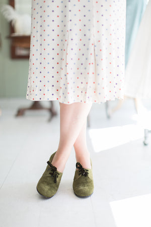 40s vintage shoes green