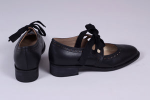 Early 30s inspired everyday shoes, black - Anna