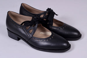 Early 30s inspired everyday shoes, black