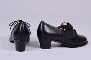Everyday walking Oxford shoes 30s / 40s - Black - Emily