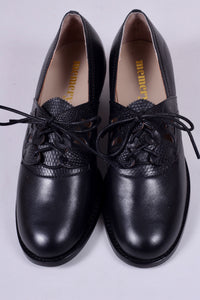 Everyday walking Oxford shoes 30s / 40s. Black - Emily