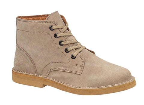 Amblers 87002 Mens Lace Up Desert Boot Taupe