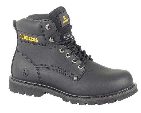 Amblers Banbury Mens Lace Up Boot Black