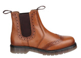 Amblers Dalby Mens Brogue Detail Pull On Chelsea Boot