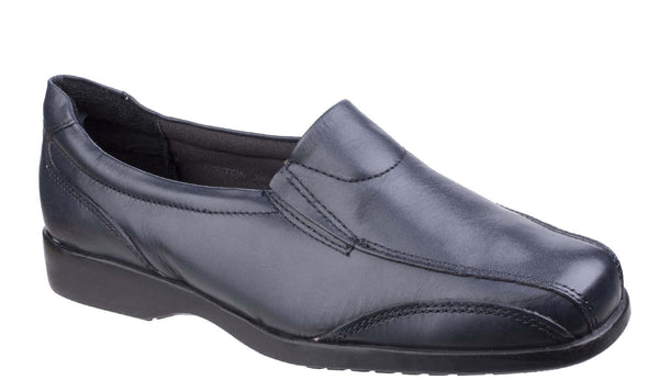 Amblers Merton Womens Slip On Casual Shoe Navy