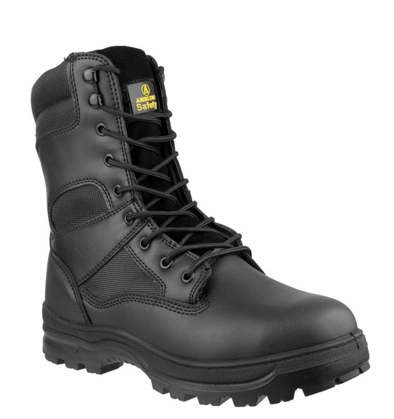Amblers Safety FS008 Womens High Leg Lace Up Safety Boot Black