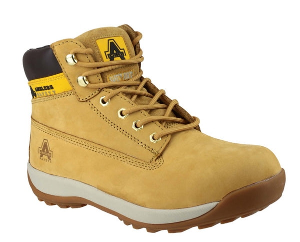 Amblers Safety FS102 Womens Lace Up Safety Work Boot Honey