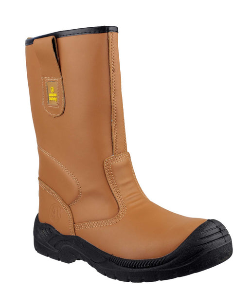 Amblers Safety FS142 Womens Pull On Rigger Safety Boot Tan
