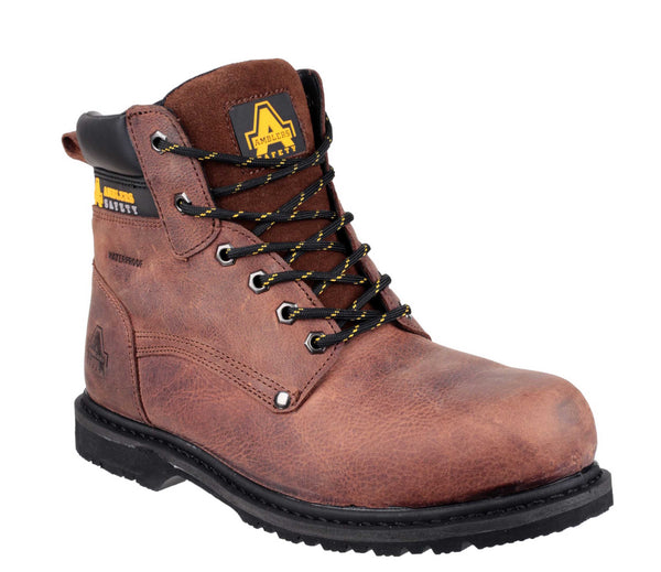 Amblers Safety FS145 Mens Lace Up Safety Work Boot Brown