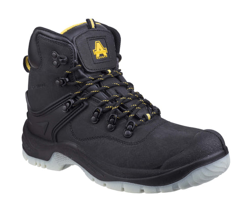 Amblers Safety FS198 Mens Waterproof Lace Up Safety Work Boot Black