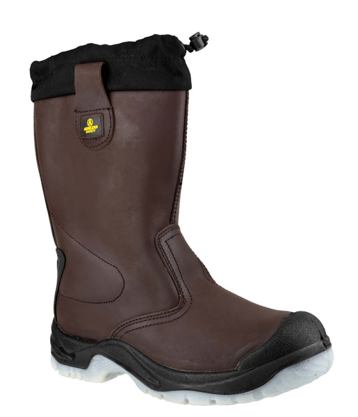 Amblers Safety FS219 Womens Pull On Safety Rigger Boot Brown