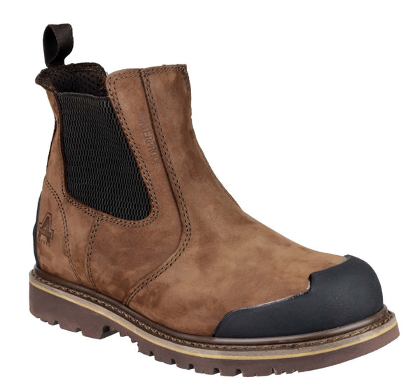 Amblers Safety FS225 Mens Pull On Welted Dealer Boot Brown