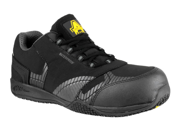 Amblers Safety FS29C Mens Lace Up Safety Trainer Black