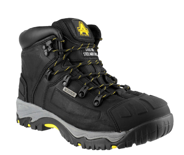 Amblers Safety FS32 Mens Waterproof Lace Up Safety Boot Black