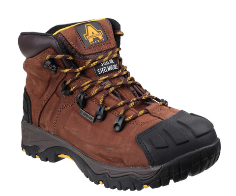 Amblers Safety FS39 Mens Lace up Safety Work Boot Brown