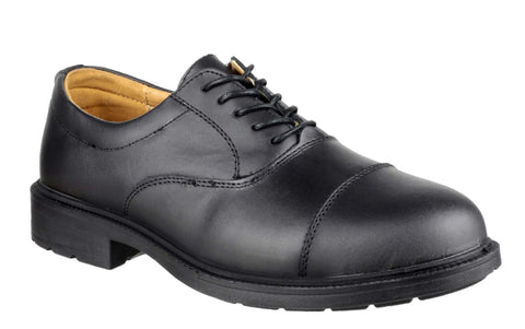 Amblers Safety FS43 Mens Oxford Style Lace Up Safety Work Shoe Black