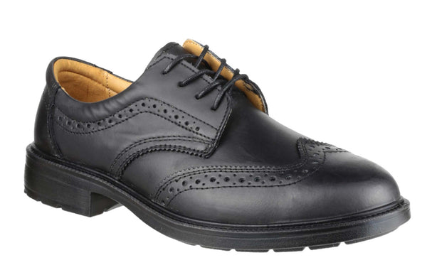 Amblers Safety FS44 Mens Brogue Detail Lace Up Safety Work Shoe Black