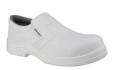 Amblers Safety FS510 Mens Slip On Work Shoe White