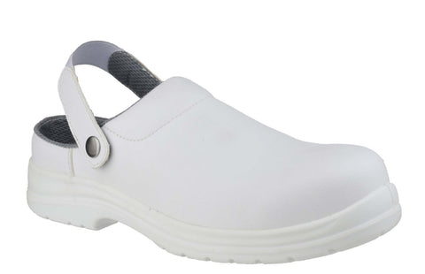 Amblers Safety FS512 Mens Slip On Work Clog White