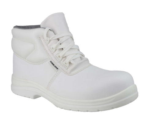 Amblers Safety FS513 Womens Lace Up Work Boot White