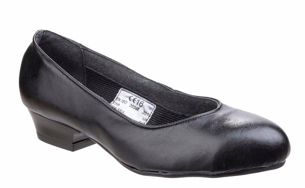 Amblers Safety FS96 Womens Slip On Safety Court Shoe Black