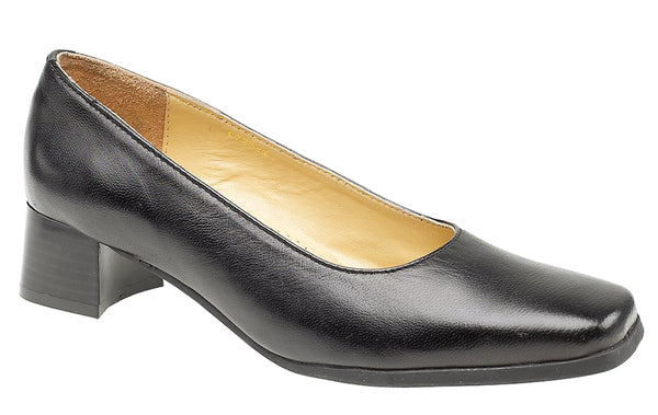 Amblers Walford X Wide Fit Womens Court Shoe Black