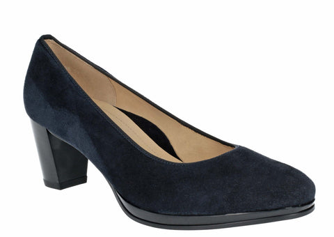 Ara Orly 12-13436-02 Womens Suede Heeled Dress Court Shoe