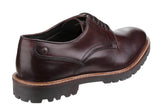 Base London Barrage Mens Plain Toe Lace Up Derby Shoe