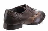 Base London Bartley Burnished Mens Fringed Brogue Detail Lace Up Shoe