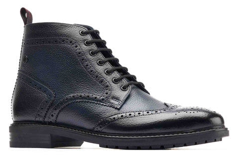 Base London Berkley Brogue Boot Navy