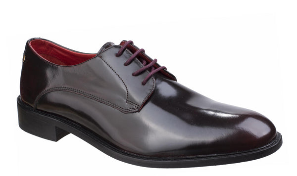 Base London Bexley Hi Shine Shoe Bordo