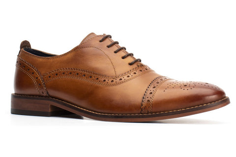 Base London Cast Washed Mens Brogue Shoe
