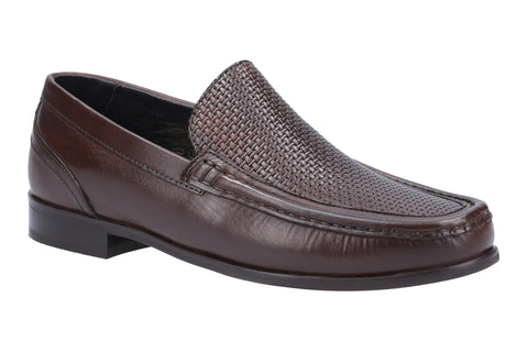 Base London Corin Washed Mens Leather Loafer