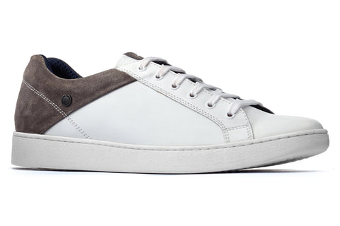 Base London Crew Lace Up Trainer White/Grey