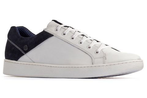 Base London Crew Lace Up Trainer White