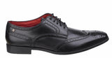 Base London Crown Waxy Mens Brogue Detail Formal Shoe