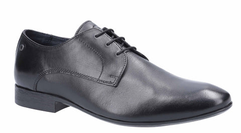 Base London Dansey Waxy Lace Up Shoe Black