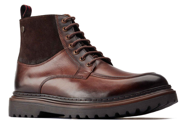 Base London Drummond Apron Toe Boot Brown