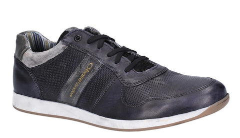 Base London Eclipse Softy Lace Up Trainer Black