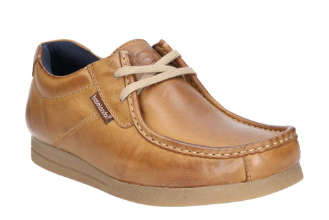 Base London Event Waxy Lace Up Shoe Tan