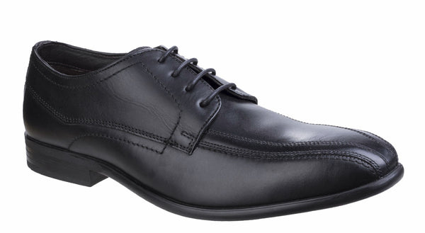 Base London Gilmore Waxy Mens Bike Toe Lace Up Formal Shoe Black