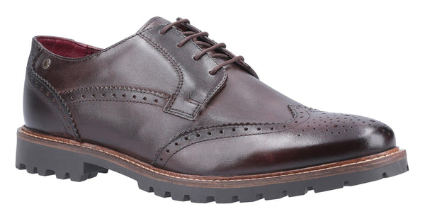 Base London Grundy Washed Lace Up Shoe Brown