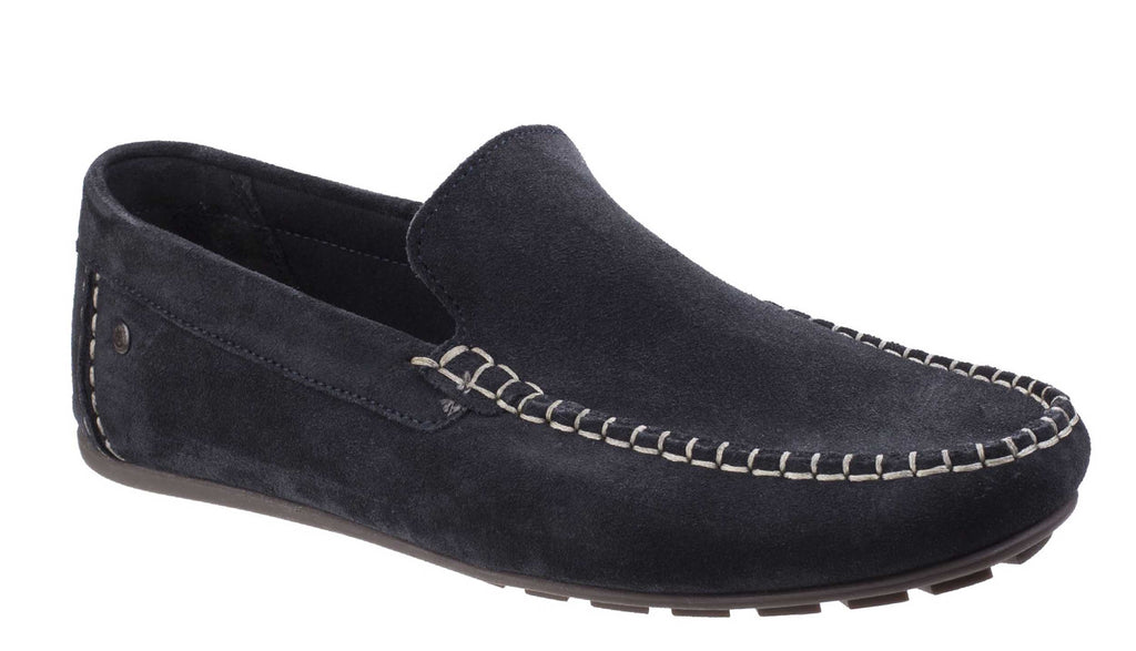 Base London Henton Mens Leather Casual Slip On Moccasin Loafer Driving Shoes