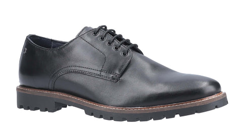 Base London Hogan Waxy Lace Up Shoe Black