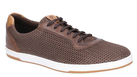 Base London Hustle Mesh Lace Up Trainer Brown